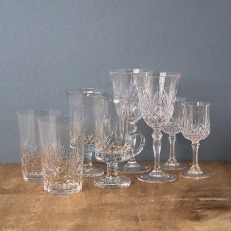 vintage glazen kristal brocante