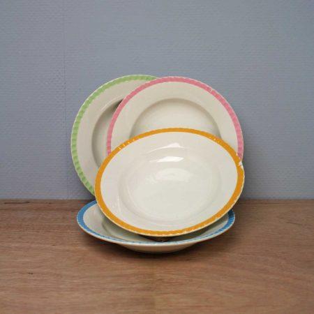 Vintage borden Digoin France pastel retro
